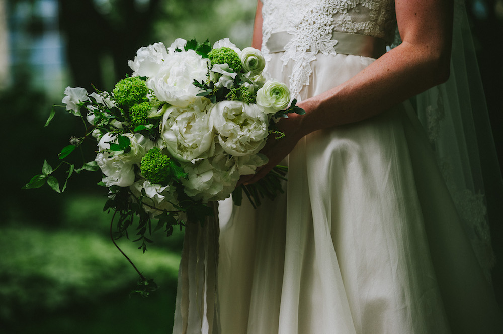 White Peony Bridal Bouquet - Winnipeg Wedding Florist