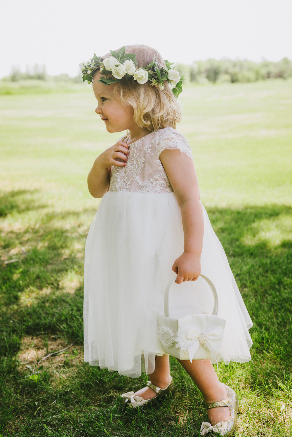 Flower Girl Flower Crown - Wedding Ideas