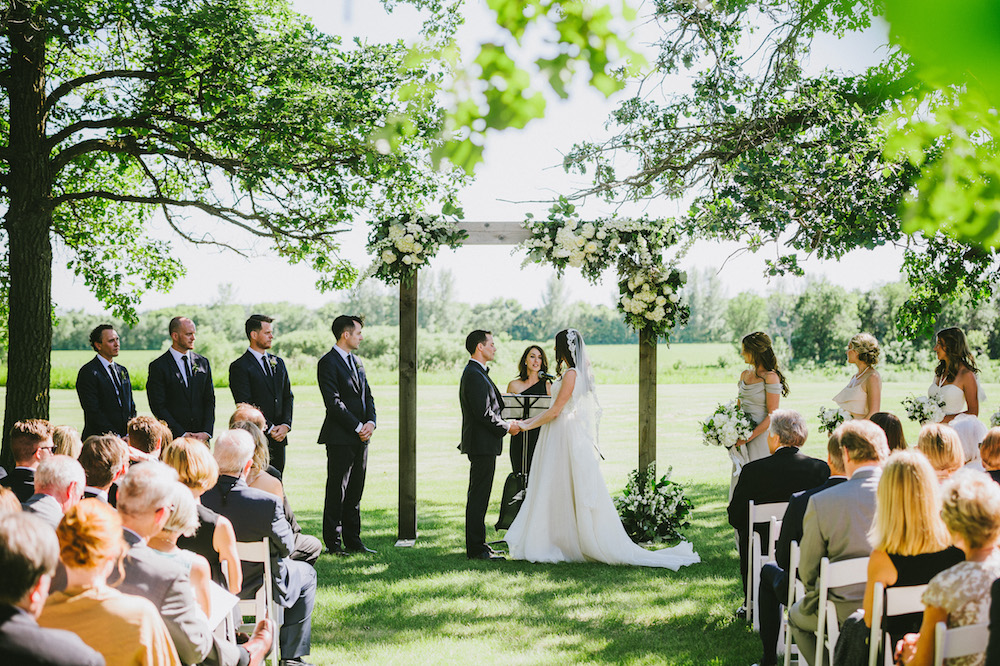 Outdoor Wedding Ceremony Decor - Wedding Florist in Winnipeg
