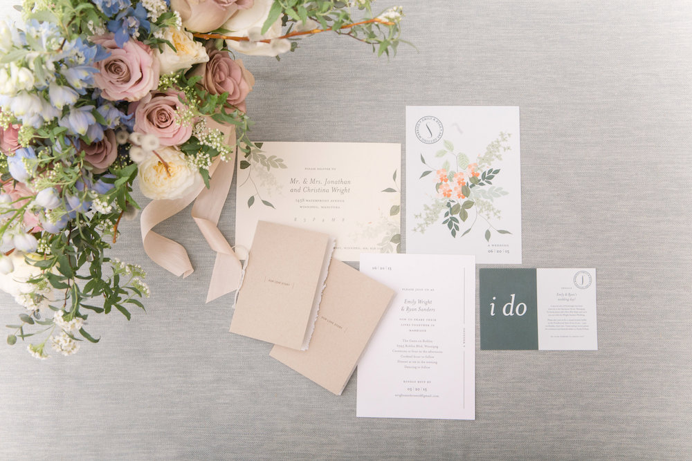 Pastel Wedding Invitations - Botanical Wedding Ideas