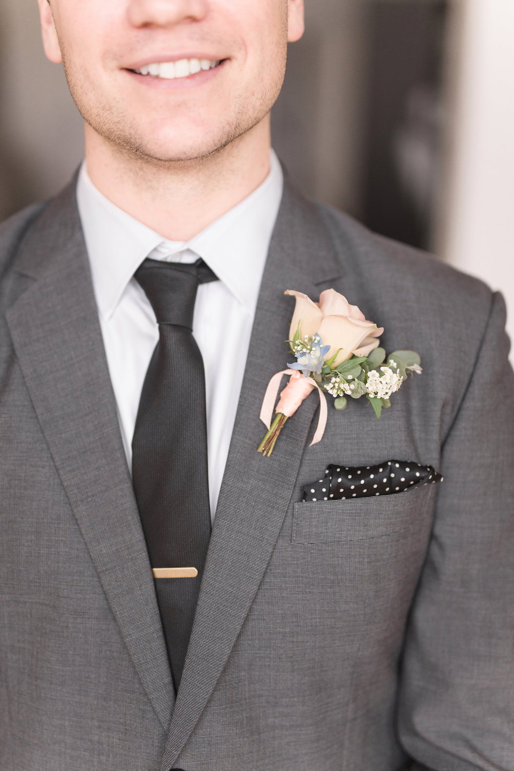 Pink Rose Boutonniere - Winnipeg Wedding Florists