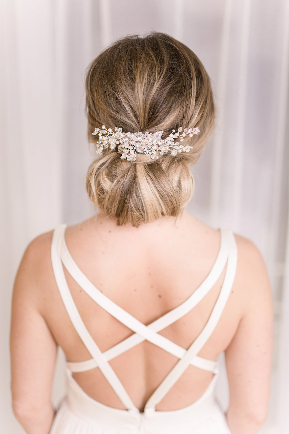 Tousled Chignon Wedding Hair - Winnipeg Weddings