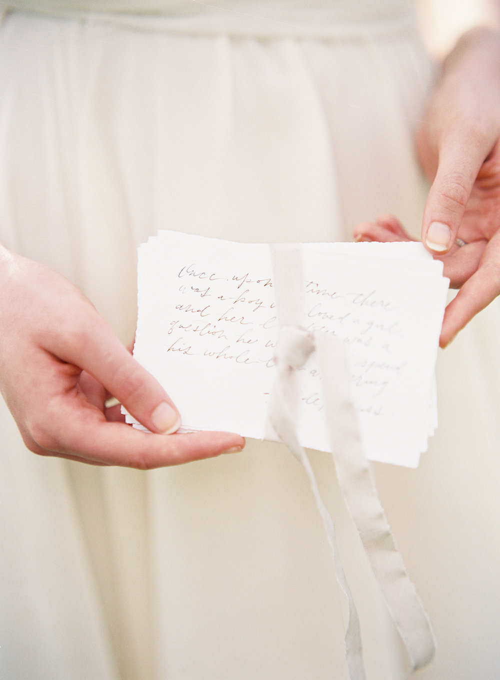 Calligraphy Wedding Vows - Romantic Wedding Ideas