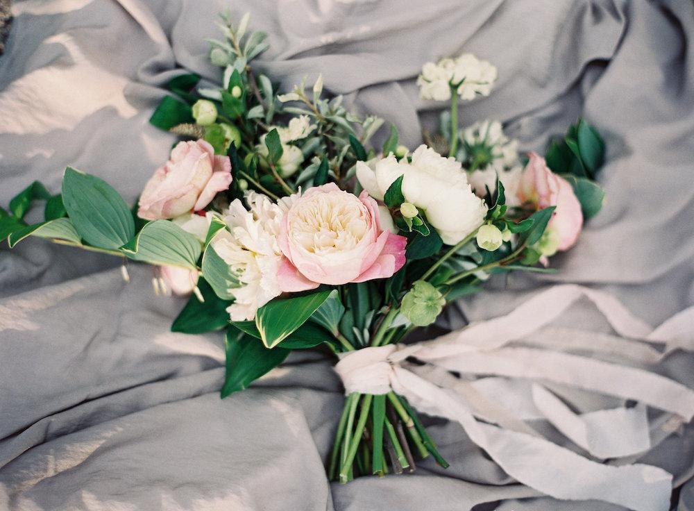 Garden Rose Wedding Bouquet - Stone House Creative