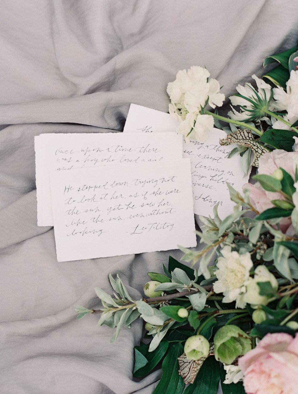 Calligraphy Wedding Ideas - Wedding Flowers Winnipeg
