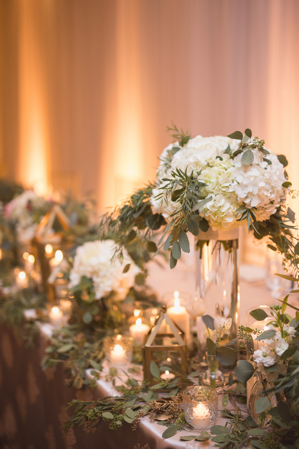 Hydrangea Centrepieces - White Wedding Ideas