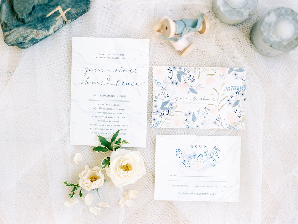 Floral Wedding Invitations - Winnipeg Wedding Ideas