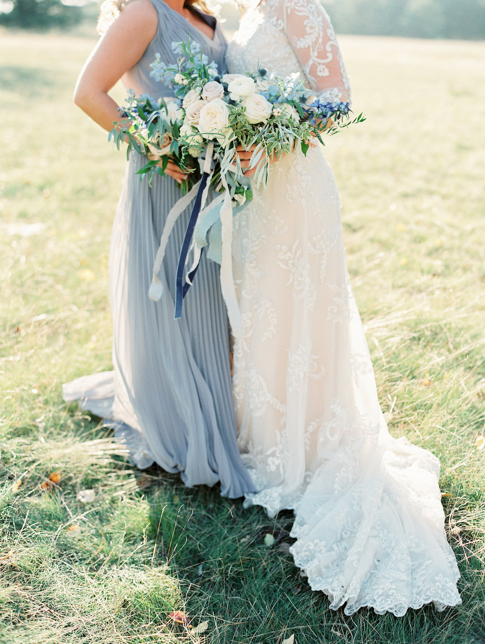 Blue Wedding Flowers - Garden Wedding Flower Ideas
