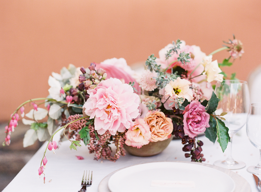 Peony Centrepiece - Pink Wedding Flowers