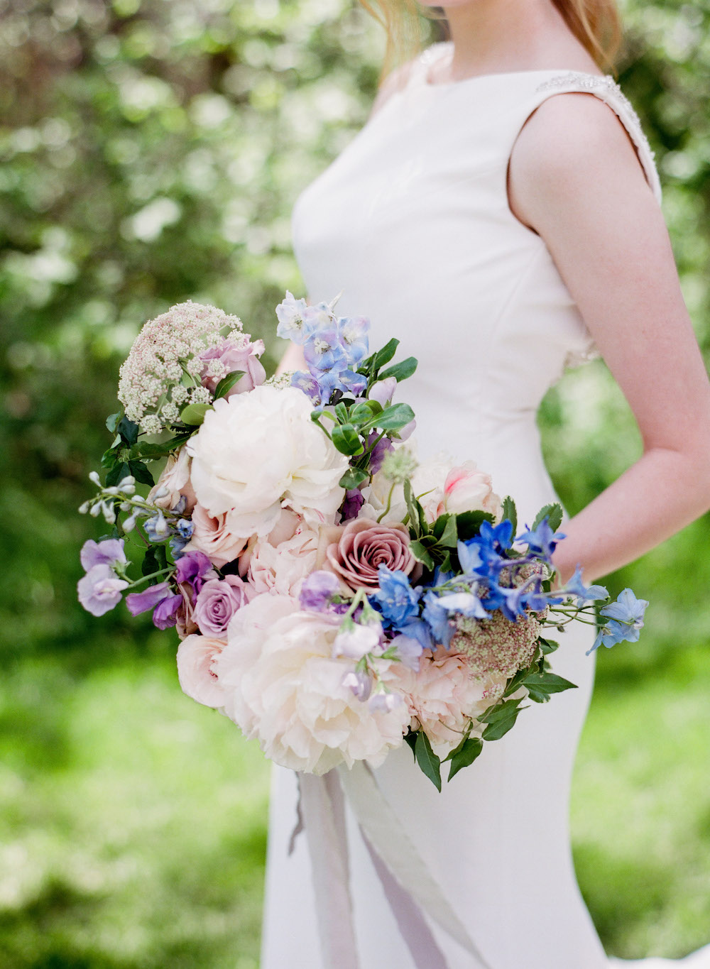 Spring Wedding bouquet with Peonies - Winnipeg Wedding Florists