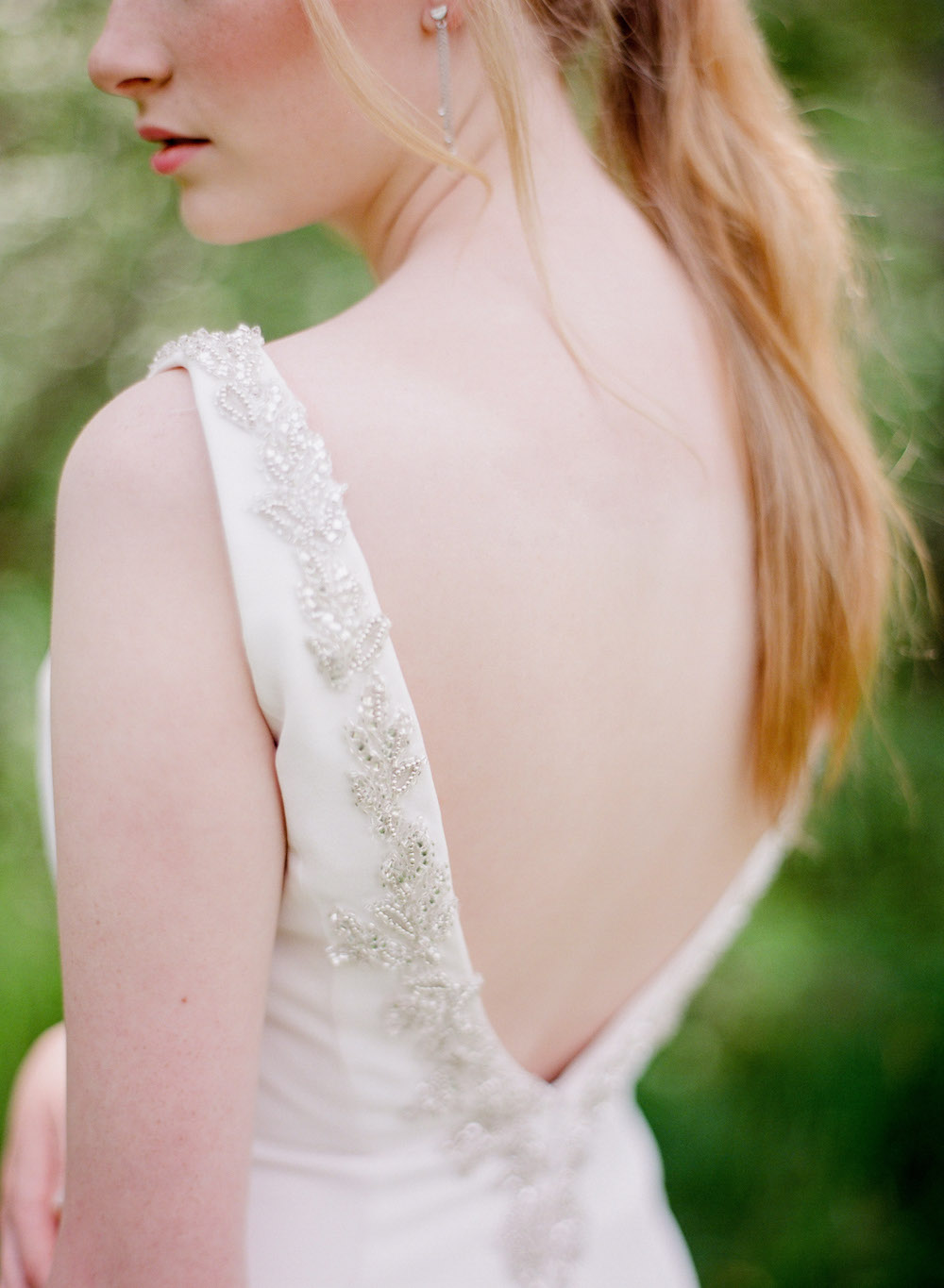 Low Back Wedding Dress - Winnipeg Wedding