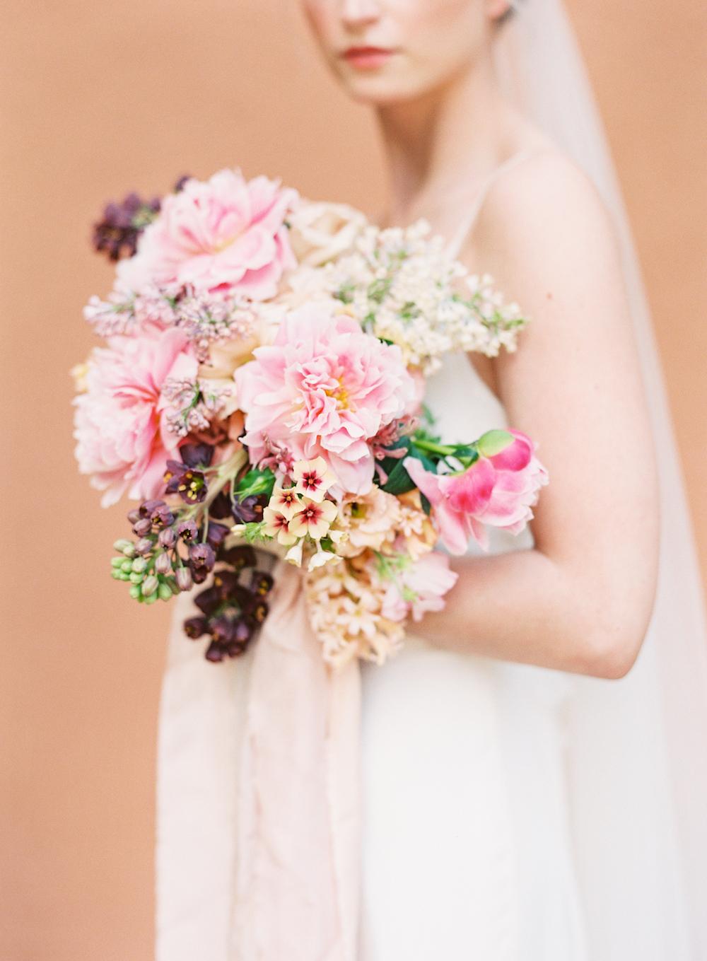 Pink Bridal Bouquet - Winnipeg Wedding Flowers