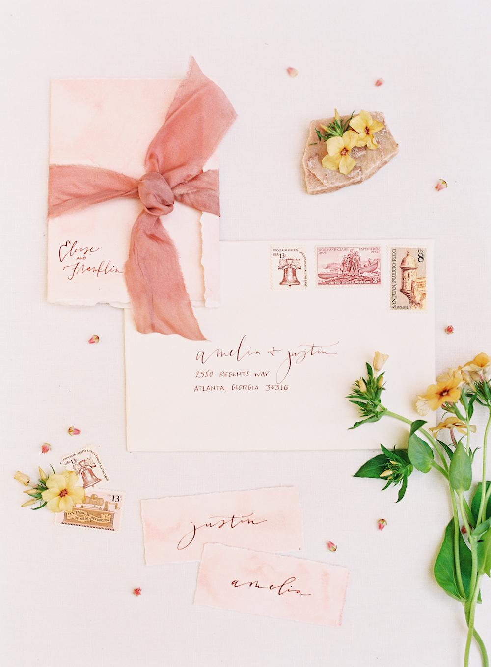 Organic Wedding Invitation Ideas - Calligraphy Wedding
