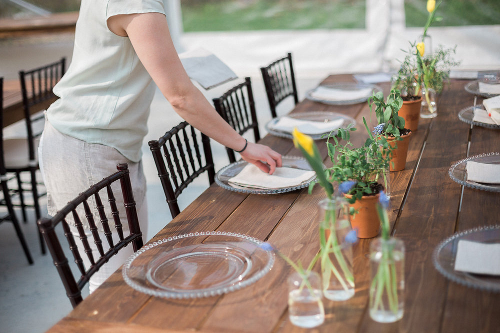 Simple Wedding centrepieces - Winnipeg Wedding Florist