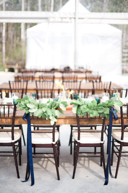 Bride and Groom Chair Garlands - Wedding Flowers Winnipeg