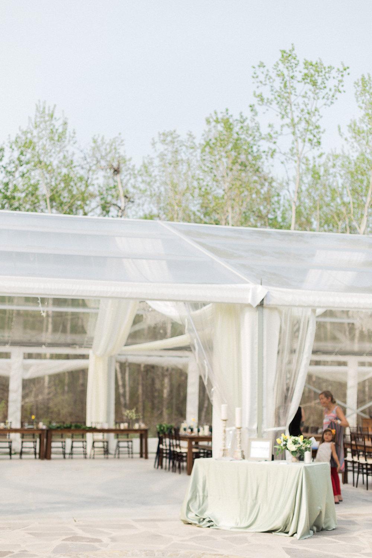 Wedding at Cielo's Garden - Clear Top Tent Wedding