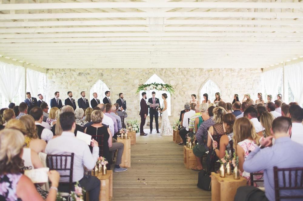 Wedding Ceremony Decor - Stone House Creative