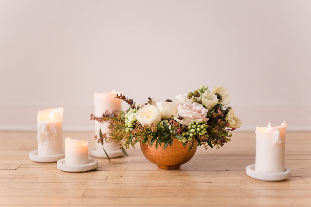 Candle Wedding Centrepiece - Budget Friendly Wedding Decor