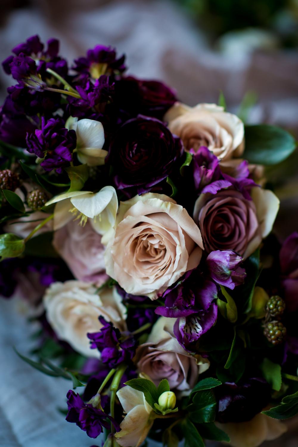 Purple Wedding Flowers - Winnipeg Wedding Florist