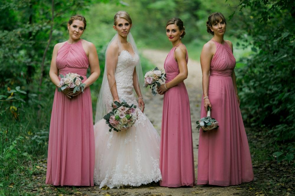 blush bridal bouquet - winnipeg wedding florist