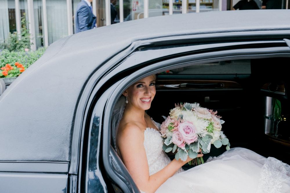 blush bridal bouquet - winnipeg wedding flowers