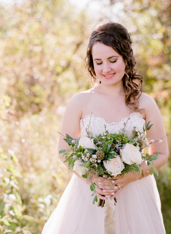 organic bridal bouquet - wedding flowers winnipeg