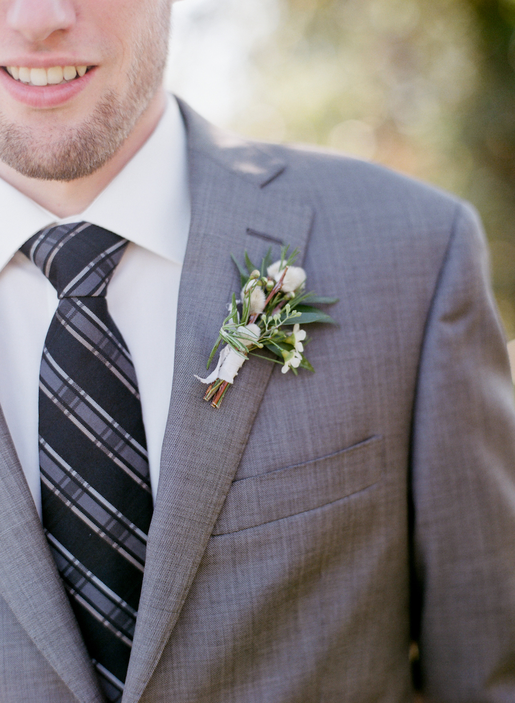 pussy willow boutonniere - winnipeg wedding florist