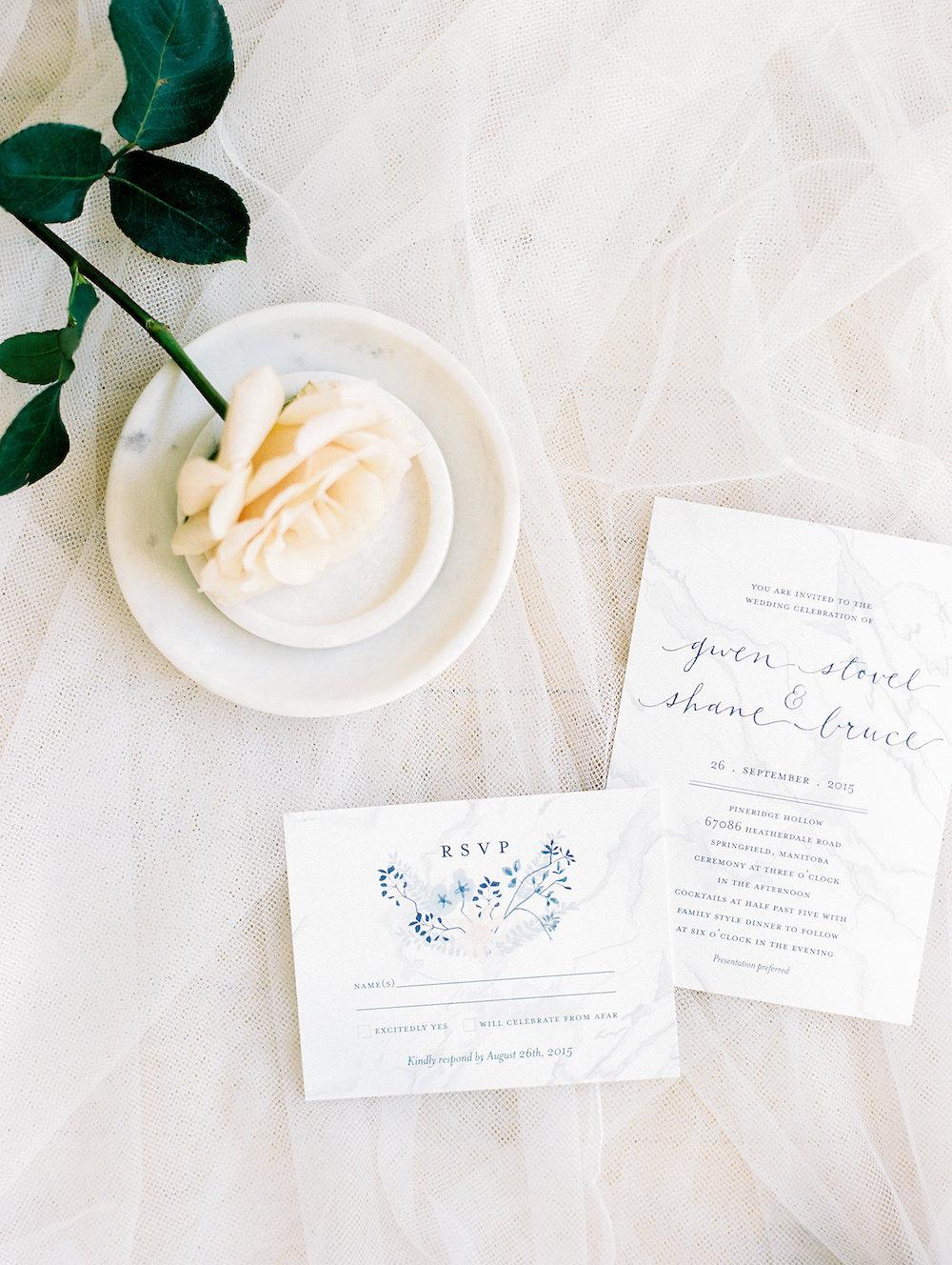 wedding invitations - stone house creative