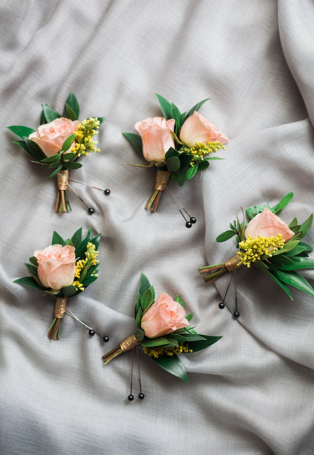 peach wedding flowers - stone house creative