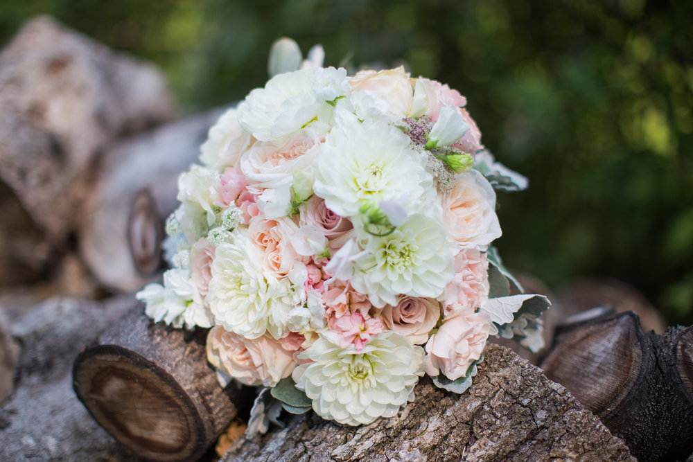 White Dahlia Bridal Bouquet - Winnipeg Florist