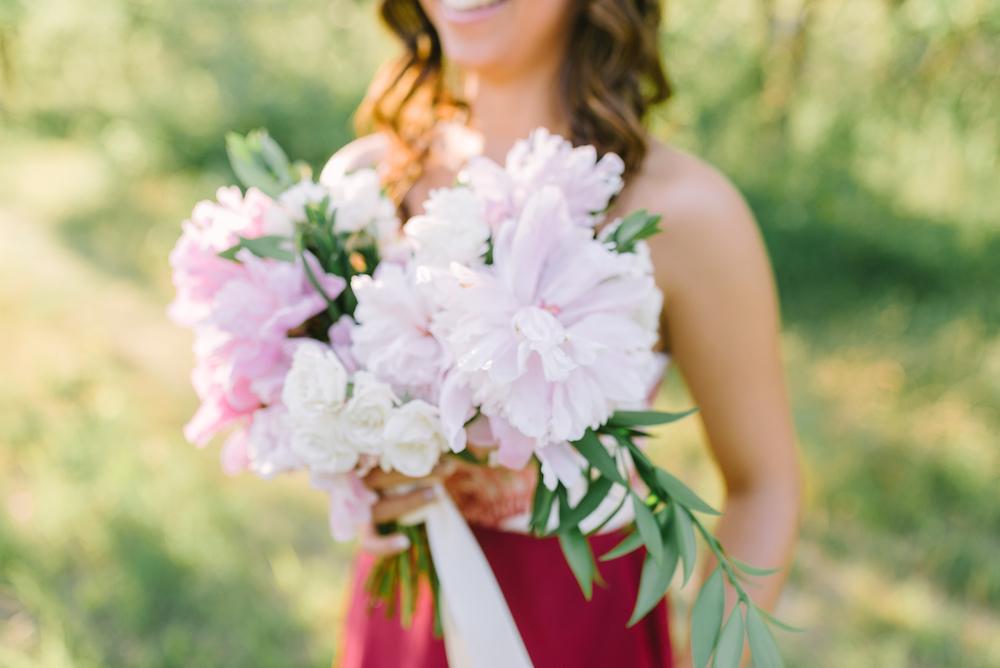 Peony Wedding Bouquet - Winnipeg Wedding Florist
