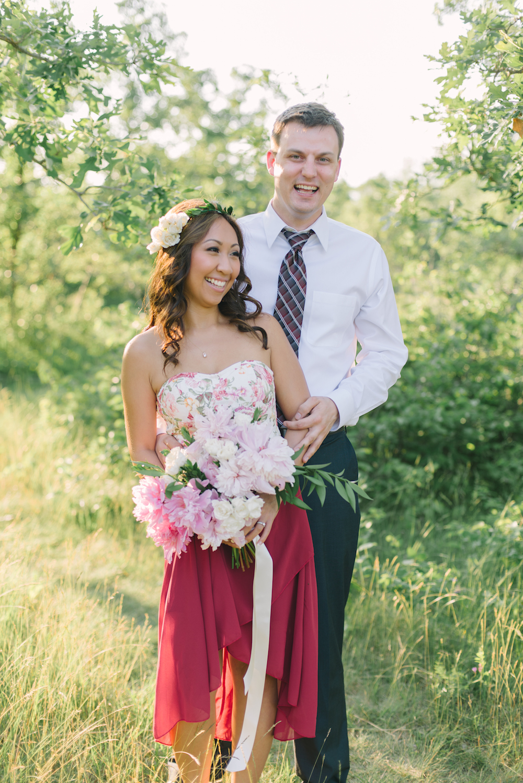 Pink Peony Bouquet - Wedding Flowers Winnipeg