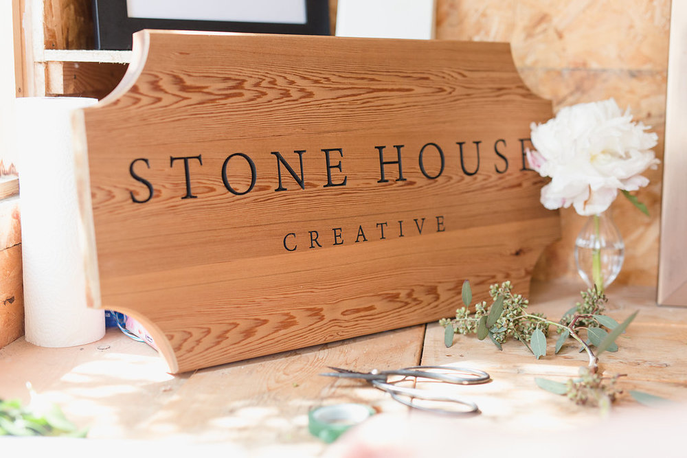 Handmade Wood Sign - Florist Branding