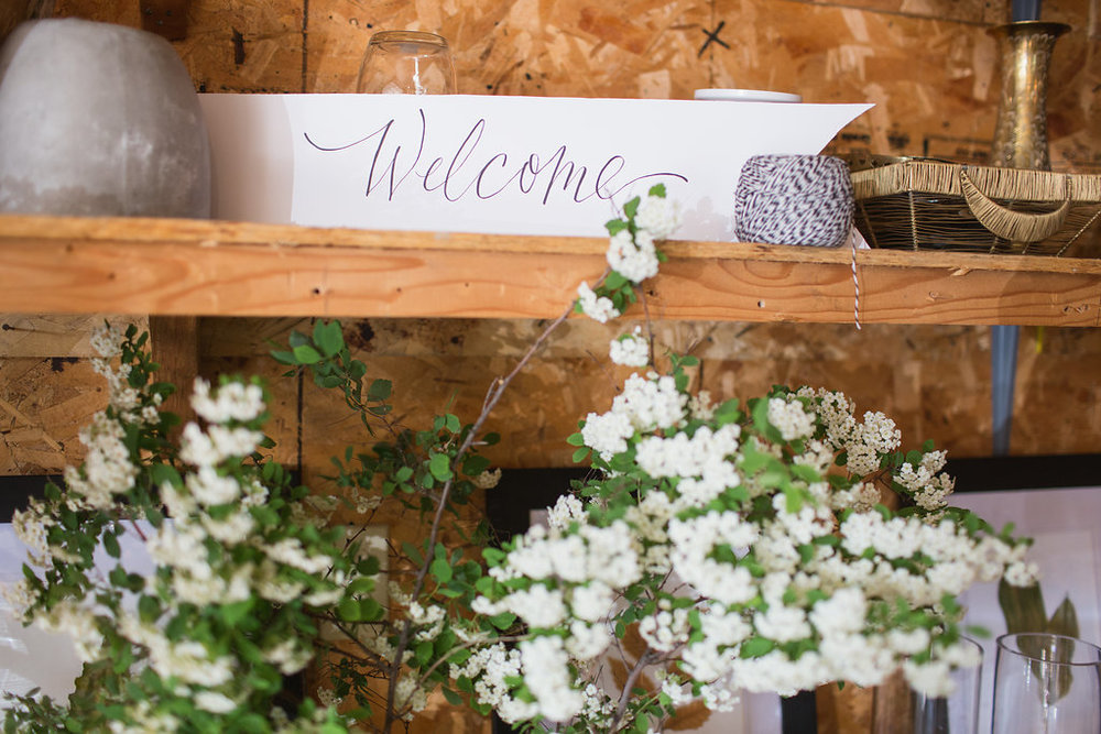 Calligraphy Welcome Sign - Winnipeg Wedding Ideas