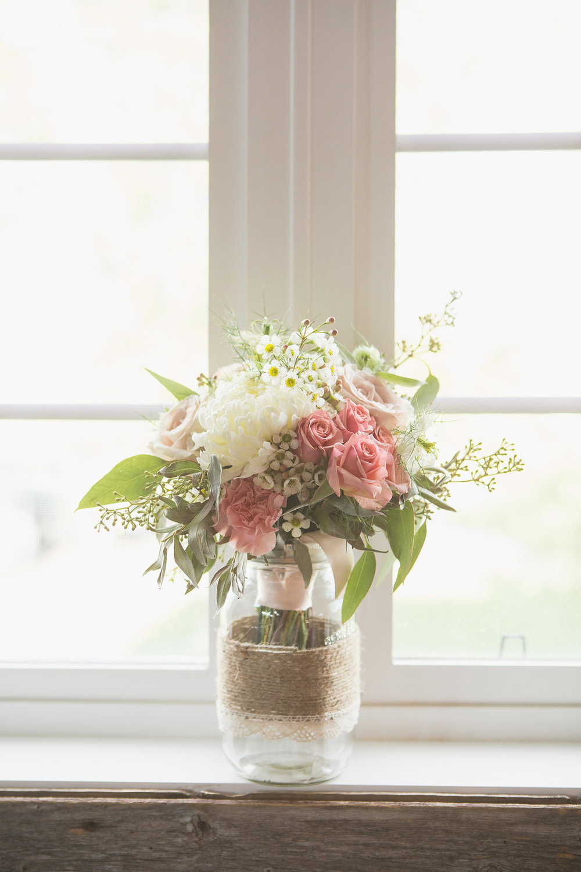 Mason Jar Wedding Flowers - Wedding flowers winnipeg