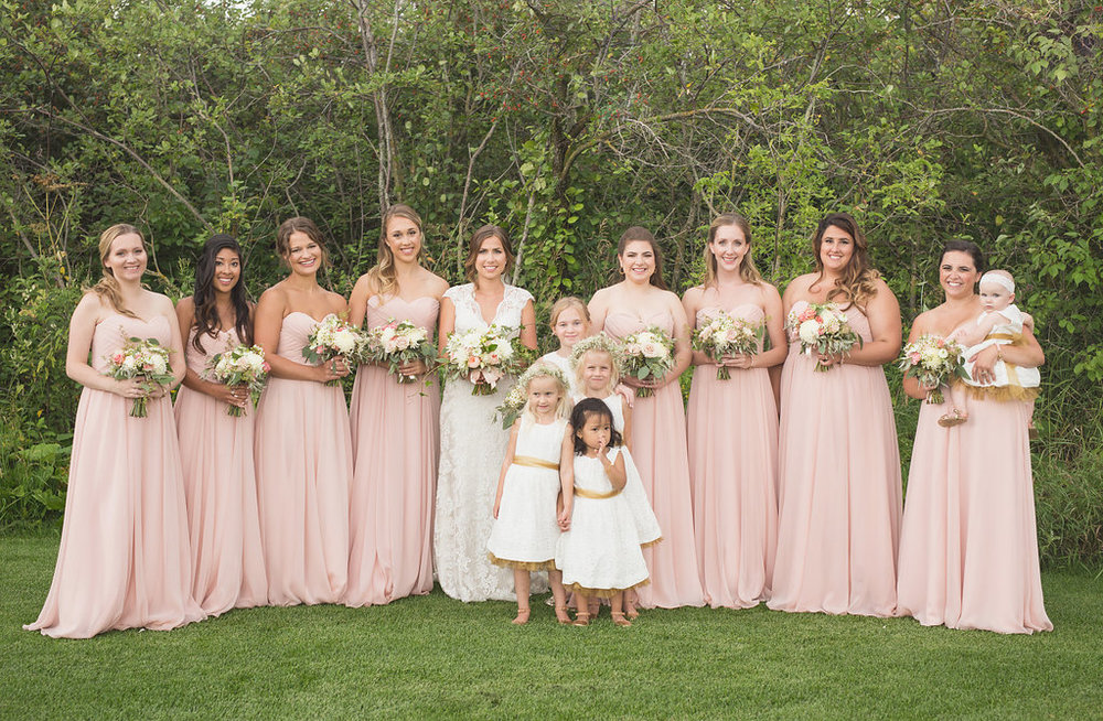 Pink Bridesmaid Dresses - Pink Wedding Flower Ideas