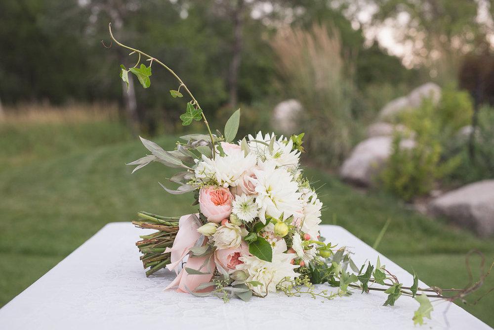 Romantic Bridal Bouquet - Stone House Creative