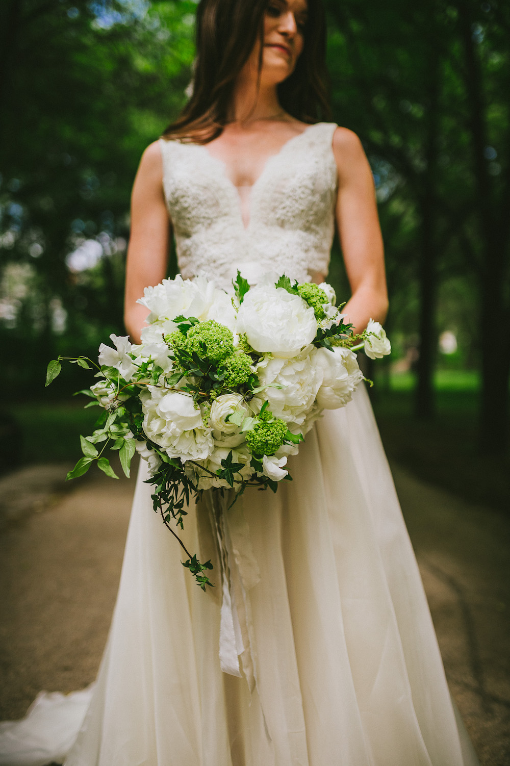 White Peony Wedding Flowers - Stone House Creative