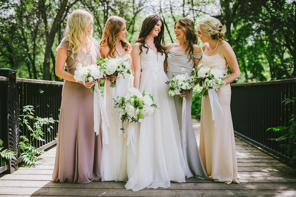 Mismatched Bridesmaid Dresses - Elegant Wedding Ideas