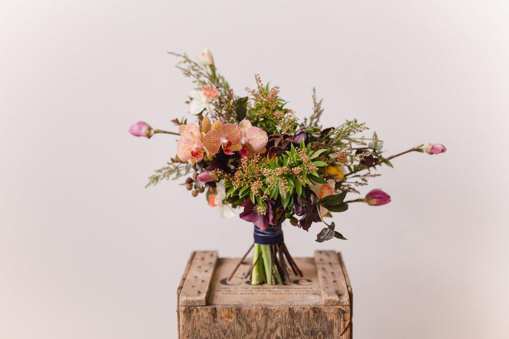 Colourful Orchid Bridal Bouquet - Modern Wedding Floral Design