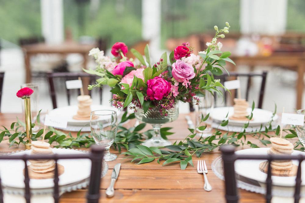 Bright Pink Wedding Flowers - Winnipeg Wedding Florist