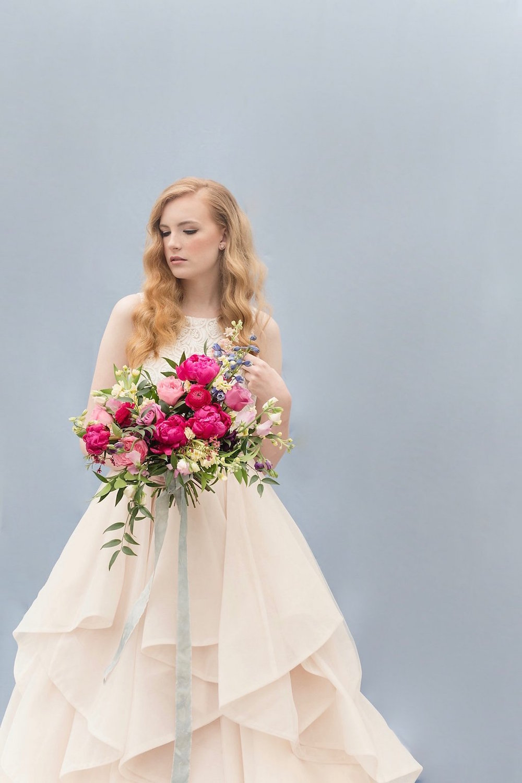 Organic Pink Bridal Bouquet - Modern Wedding Floral Design