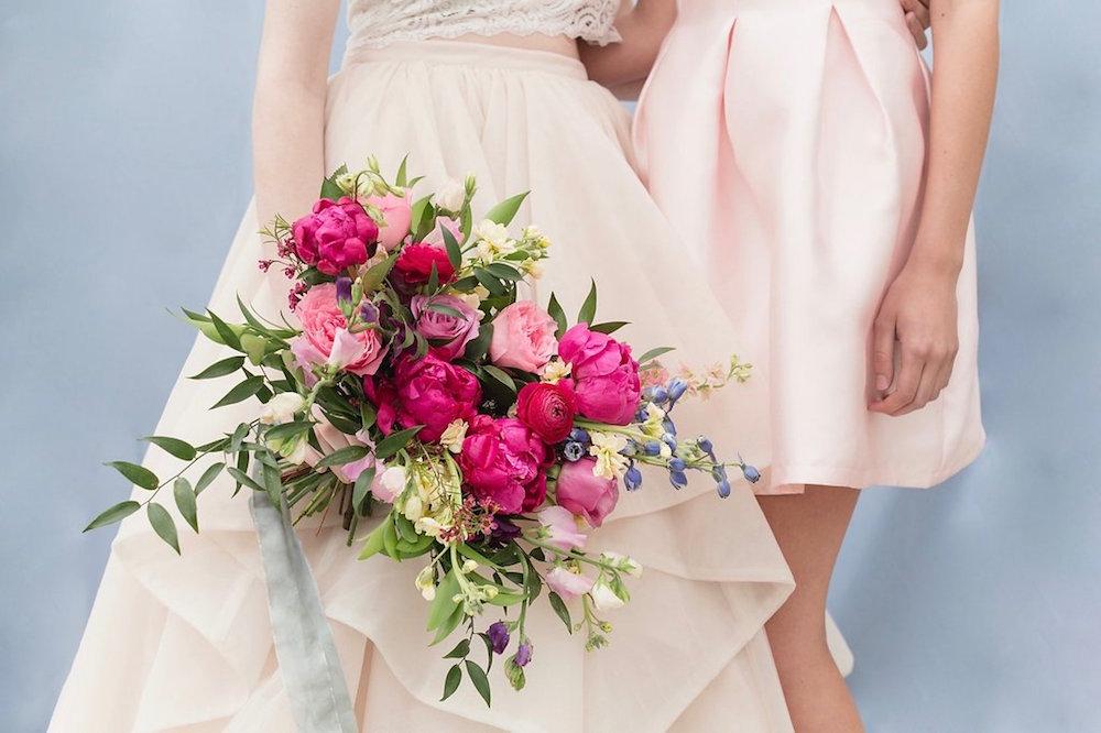 Pink Peony Bridal Bouquet - Stone House Creative