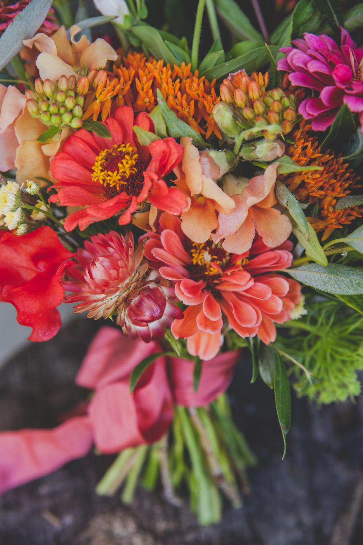 Coral Wedding Flowers - Summer Wedding Bouquet