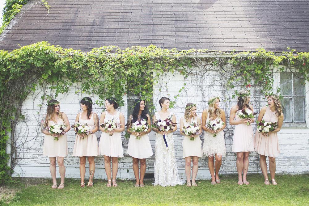 Cream Bridesmaid Dress - Winnipeg Wedding Flowers