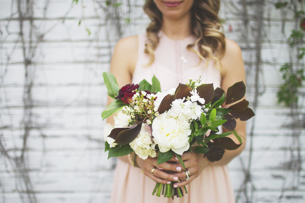 White Peony Bouquet - Wedding Flower Ideas