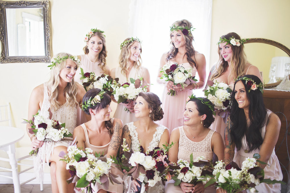 Cream Bridesmaid Dresses - Winnipeg Wedding Florists