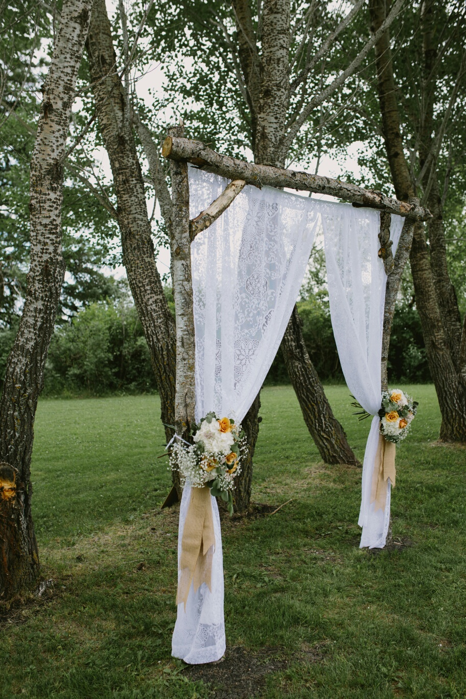 Ceremony Arch Flowers - Stone House Creative