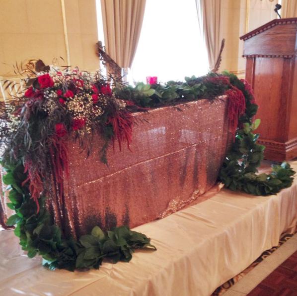 Garland Wedding Decor - Winnipeg Wedding Florists