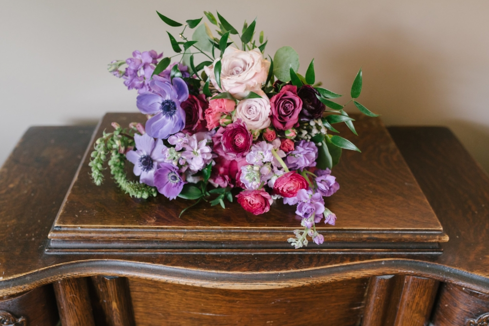 Berry Toned Bridal Bouquet - Wedding Florist in Winnipeg